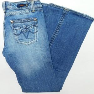 VIGOSS Jeans 7/8 27x32 snap flap twisted flare